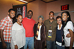 Guiding Light's Lawrence Saint-Victor with his family, sister, brother Jon, father Jose (who was in the film), grandmother Mildred, mom, and wife Shay as he presented the independent short film The Forgiven in its World Premiere on September 17, and 18, 2010 at the 14th Annual Urban World Film Festival presented by BET Networks at the AMC Theatres 34th Street, New York City, New York. (Photo by Sue Coflin/Max Photos)