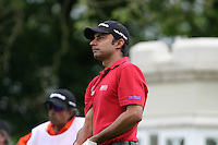 Jyoti Randhawa tees off on the 1st hole during the final round of the 2008 BMW PGA Championship at Wentworth Club, Surrey, England 25th May 2008 (Photo by Eoin Clarke/GOLFFILE)