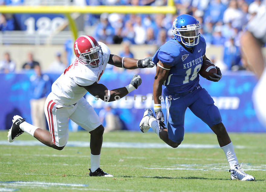 RANDALL COBB, of the Kentucky Wildcats, in action during the Wildcats game against the Alabama Crimson Tide on October 2, 2009 in Lexington, KY. The Crimson Tide beat the Wildcats   38-20 ...