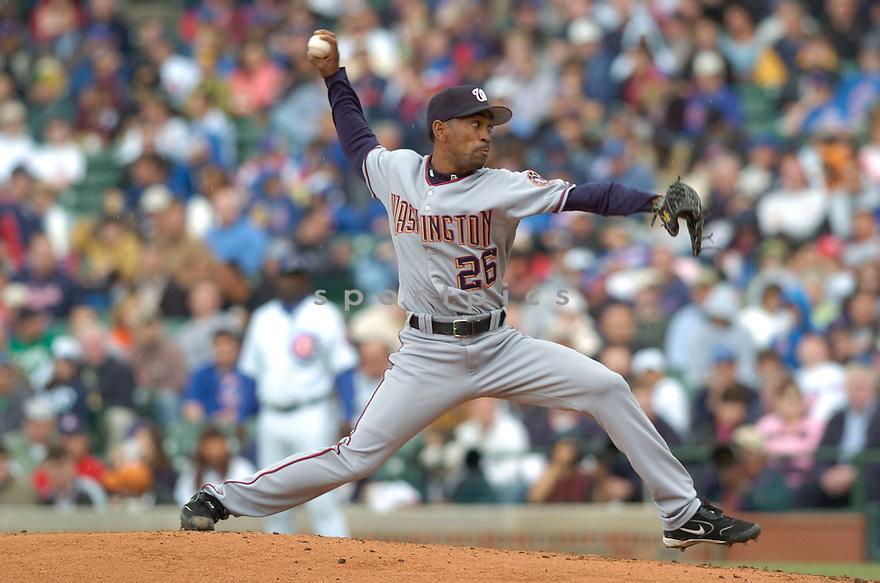 Ramon Ortiz, of the Washington Nationals, during their game against the Chicago Cubs on May 18, 2006 in Chicago...Nationals win 5-3..David Durochik / SportPics