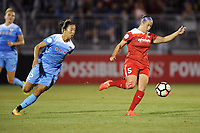 Boyds, MD - Saturday August 26, 2017: Yuki Nagasato, Whitney Church during a regular season National Women's Soccer League (NWSL) match between the Washington Spirit and the Chicago Red Stars at Maureen Hendricks Field, Maryland SoccerPlex.