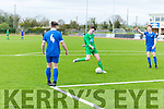 In Action Kerry's John Hayes shoots and scores the first goal  at the   SSE Airtricity U17 League 2017 Kerry V Waterford Fc at Mounthawk Park Tralee on Sunday
