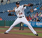 Reno Aces starting pitcherJoe Martinez throws agianst the Fresno Grizzlies during their game on Friday night August 10, 2012 at Aces Ballpark in Reno NV.