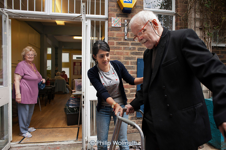 A volunteer helper at Age UK Camden's Hillwood Resource Centre, which will close in June 2011 following cuts to the organisation's funding.
