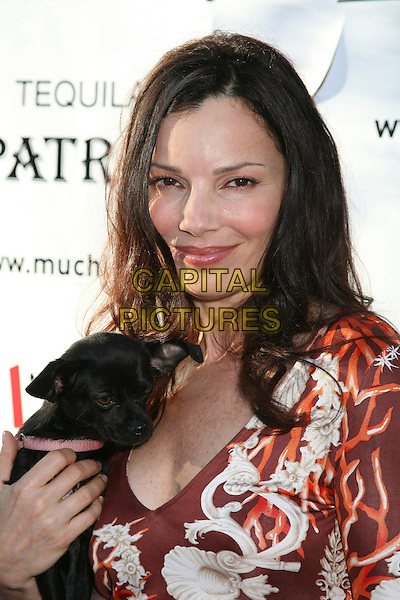 "FRAN DRESCHER.Bow Wow Ciao Benefit For ""Much Love"" Animal Rescue, Malibu, California, USA..August 5th, 2006.Photo: Byron Purvis/AdMedia/Capital Pictures.Ref: ADM/BP.headshot portrait brown top dog animal pet.www.capitalpictures.com.sales@capitalpictures.com.©Byron Purvis/AdMedia/Capital Pictures."