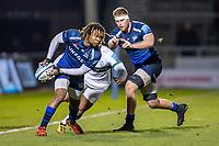6th March 2020; AJ Bell Stadium, Salford, Lancashire, England; Premiership Rugby, Sale Sharks versus London Irish; Marland Yarde of Sale Sharks passes the ball
