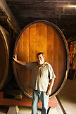 USA, California, Sonoma, Buena Vista Carneros winery, Tom Blackwood the hospitality director in a cave built in 1857
