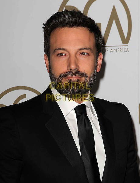 Ben Affleck.At the 24th Annual Producers Guild Awards held at the Beverly Hilton Hotel, Beverly Hills, California, USA,.26th January 2013..PGAs PGA arrivals portrait headshot  black suit tie beard facial white shirt .CAP/ADM/KB.©Kevan Brooks/AdMedia/Capital Pictures.