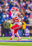 9 November 2014: Kansas City Chiefs running back Jamaal Charles rushes up the middle for a 7-yard gain on a button-hook play, caught in the second quarter against the Buffalo Bills at Ralph Wilson Stadium in Orchard Park, NY. The Chiefs rallied with two fourth quarter touchdowns to defeat the Bills 17-13. Mandatory Credit: Ed Wolfstein Photo *** RAW (NEF) Image File Available ***