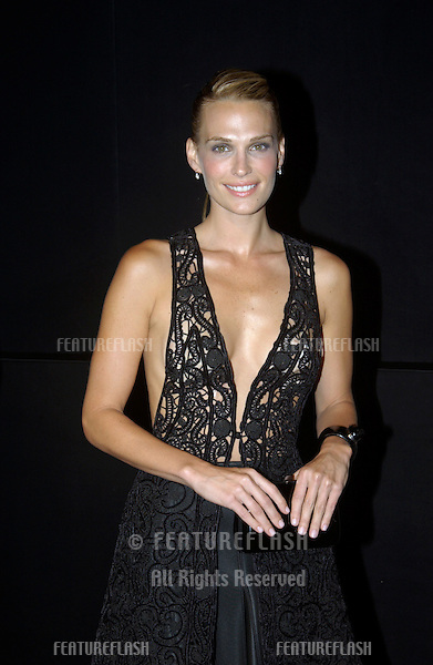 Actress/model MOLLY SIMS at fashion show event on Rodeo Drive, Beverly Hills, where designer Giorgio Armani was honored with the first Rodeo Drive Walk of Style Award..Sept 9, 2003