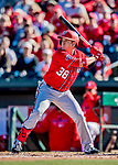 29 February 2020: Washington Nationals outfielder JB Shuck in action during a Spring Training game against the St. Louis Cardinals at Roger Dean Stadium in Jupiter, Florida. The Cardinals defeated the Nationals 6-3 in Grapefruit League play. Mandatory Credit: Ed Wolfstein Photo *** RAW (NEF) Image File Available ***