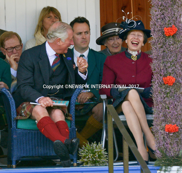 Princess Anne & Prince Charles Animated At Braemar Games