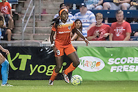 Bridgeview, IL - Saturday July 23, 2016: Houston Dash forward Chioma Ubogagu (9) during a regular season National Women's Soccer League (NWSL) match between the Chicago Red Stars and the Houston Dash at Toyota Park.