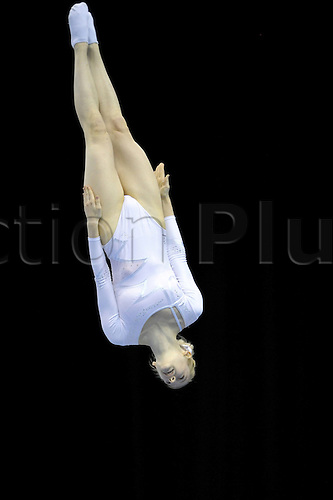 24.07.2011 British Trampoline Tumbling and DMT Championships from the NIA in Birmingham. Bryony Paige from AFTC Sheffeild in action in the Womens Senior Finals.