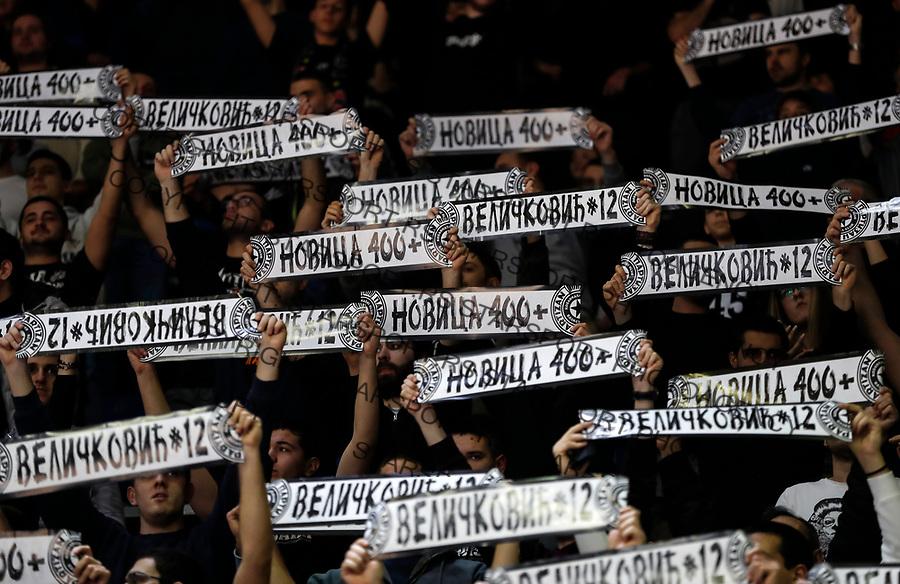 Kosarka ABA League season 2017-2018<br /> Partizan v Buducnost (Podgorica)<br /> Novica Velickovic 400 mec utakmica match for KK Partizan<br /> Beograd, 04.03.2018.<br /> foto: Srdjan Stevanovic/Starsportphoto &copy;