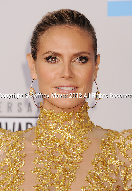 LOS ANGELES, CA - NOVEMBER 18: Heidi Klum attends the 40th Anniversary American Music Awards held at Nokia Theatre L.A. Live on November 18, 2012 in Los Angeles, California.