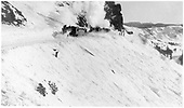 C-16 #201 with a wedge snowplow pulling flanger #201 and being assisted by three other engines at Windy Point.<br /> D&amp;RG  Cumbres pass - Windy Point, CO  Taken by Lively, Charles R. - circa 1910