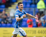 St Johnstone v Inverness Caley Thistle...08.08.15...SPFL..McDiarmid Park, Perth.<br /> Graham Cummins celebrates his goal<br /> Picture by Graeme Hart.<br /> Copyright Perthshire Picture Agency<br /> Tel: 01738 623350  Mobile: 07990 594431