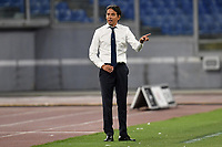 Simone Inzaghi coach of SS Lazio reacts during the Serie A football match between SS Lazio and Cagliari Calcio at Olimpico stadium in Rome ( Italy ), July 23th, 2020. Play resumes behind closed doors following the outbreak of the coronavirus disease. Photo Andrea Staccioli / Insidefoto