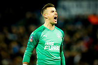 3rd March 2020; The Hawthorns, West Bromwich, West Midlands, England; English FA Cup Football, West Bromwich Albion versus Newcastle United; Karl Darlow  celebrates Newcastle United's opening goal after 31 minutes (0-1)