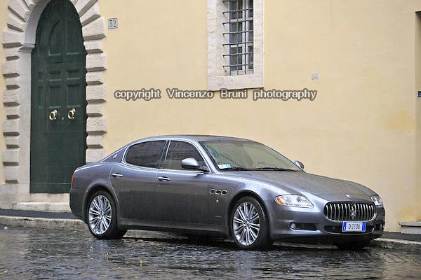 A Maserati Quattroporte, model year 2010