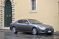 A Maserati Quattroporte, model year 2010