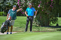 Joost Luiten (NLD) looks over his chip shot on 1 during round 1 of the World Golf Championships, Mexico, Club De Golf Chapultepec, Mexico City, Mexico. 2/21/2019.<br /> Picture: Golffile | Ken Murray<br /> <br /> <br /> All photo usage must carry mandatory copyright credit (© Golffile | Ken Murray)