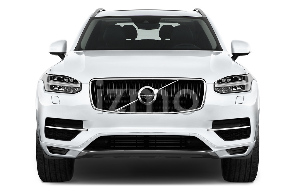 Car photography straight front view of a 2017 Volvo XC90 Momentum 5 Door SUV Front View