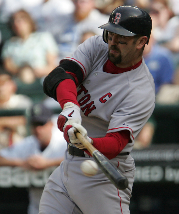 27 June 2007:  Jason Varitek   Seattle Mariners vs Boston Red Sox at Safeco Park in Seattle, Washington.