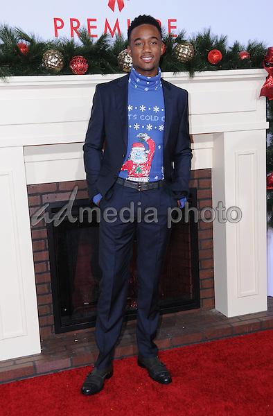 "03 November 2016 - Westwood, California. Jessie Usher. Premiere Of Universal's ""Almost Christmas"" held at Regency Village Theatre. Photo Credit: Birdie Thompson/AdMedia"