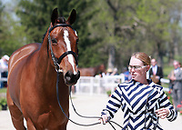LEXINGTON, KY - April 26, 2017. #13 Covert Rights and Colleen Rutledge from the USA at the Rolex Three Day Event First Horse Inspection at the Kentucky Horse Park.  Lexington, Kentucky. (Photo by Candice Chavez/Eclipse Sportswire/Getty Images)