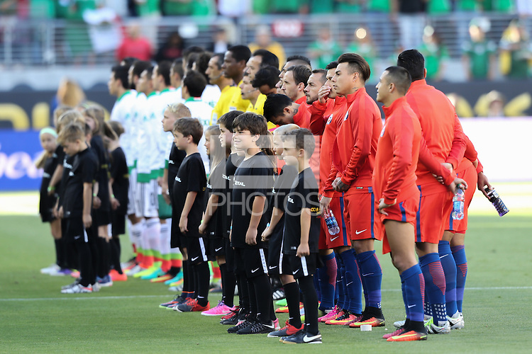 Santa Clara, CA - Saturday June 18, 2016: Chile , Mexico  during a Copa America Centenario quarterfinal match between Mexico (MEX) and Chile (CHI) at Levi's Stadium.