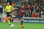 06.11.2013 Barcelona, Spain. Uefa Champions League Matchday 4 group H. Picture show Neymar Jr. in action during game between FC Barcelona against AC Milan at Camp Nou