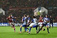 Bobby Reid of Bristol City shoots at goal during the Sky Bet Championship match between Bristol City and Reading at Ashton Gate, Bristol, England on 26 December 2017. Photo by Paul Paxford.