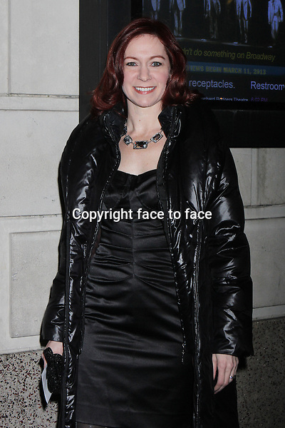 "Carrie Preston attending the opening night performance of ""Cat on a Hot Tin Roof"" at the Richard Rodgers Theatre in New York, 17.01.2013. .Credit: Rolf Mueller/face to face"