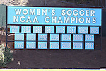 30 August 2013: The signage at Fetzer Field has been updated to reflect that the UNC women are the defending national champion, as well as winners of 21 of 31 NCAA Division I Women's Soccer championships and 22 national titles in all. The Duke University Blue Devils played the Kennesaw State University Owls at Fetzer Field in Chapel Hill, NC in a 2013 NCAA Division I Women's Soccer match. Duke won 1-0.