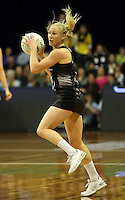 12.10.2016 Silver Ferns Laura Langman in action during the Silver Ferns v Australia netball test match played at the Silver Dome in Launceston in Australia.. Mandatory Photo Credit ©Michael Bradley.