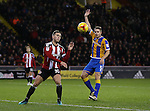 Billy Sharp of Sheffield Utd heads the ball towards goal during the English League One match at the Bramall Lane Stadium, Sheffield. Picture date: November 19th, 2016. Pic Simon Bellis/Sportimage