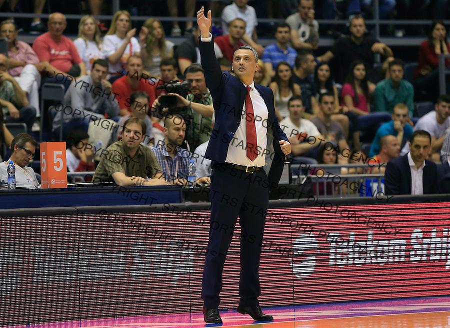 Kosarka Kosarkaska Liga Srbije season 2014-2015<br /> Crvena Zvezda v Partizan<br /> head coach Dejan Radonjic<br /> Belgrade, 05.17.2015.<br /> foto: Srdjan Stevanovic/Starsportphoto &copy;