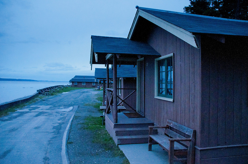Cabin, Cama Beach State Park, Camano Island, Washington, US
