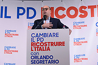 Roma, 12 Marzo 2017<br /> Nicola Zingaretti.<br /> Presentazione al teatro Eliseo della candidatura a segretario del Partito Democratico di Andrea Orlando Ministro della Giustizia.