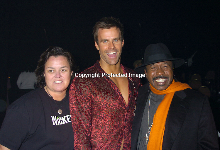 "Rosie O' Donnell, Cameron Mathison and Ben Vereen ..at a performance of ""Pippin"" A Concert to Benefit The National Aids Fund and The Storm Theatre on November 29, 2004 at The Manhattan Center's Grand Ballroom...PHoto by Robin Platzer, Twin Images"