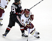 Mike McLaughlin (NU - 18), Cam Atkinson (BC - 13) - The Boston College Eagles defeated the Northeastern University Huskies 5-1 on Saturday, November 7, 2009, at Conte Forum in Chestnut Hill, Massachusetts.
