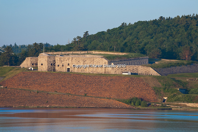 View of Fort Knox from Bucksport, ME, USA
