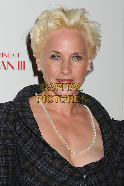 "Patricia Arquette.""A Glimpse Inside The Mind of Charles Swan III"" Los Angeles Premiere held at ArcLight Cinemas, Hollywood, California, USA..February 4th, 2013.headshot portrait grey gray blue black plaid tartan jacket pearl necklace .CAP/ADM/BP.©Byron Purvis/AdMedia/Capital Pictures."
