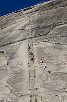 Rock climbers in Yosemite National Park, California.