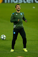 26th November 2019; Anfield, Liverpool, Merseyside, England; UEFA Champions League, Liverpool versus Napoli, Napoli Training; Amin Younes during SSC Napoli's open training session at Anfield ahead of tomorrow's Champions League group match against Liverpool