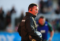 Leicester Tigers Head Coach Aaron Mauger looks on during the pre-match warm-up. European Rugby Champions Cup match, between Leicester Tigers and Racing 92 on October 23, 2016 at Welford Road in Leicester, England. Photo by: Patrick Khachfe / JMP
