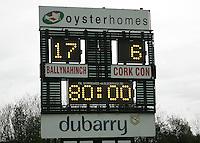 AIB Cup Final 2009. The scoreboard. Mandatory Credit - Mandatory Credit - John Dickson