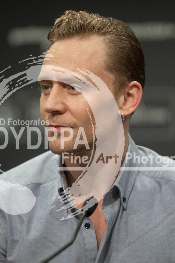 Tom Hiddleston poses